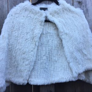 Valerie Stevens Genuine Rabbit Hair Fur Capelet